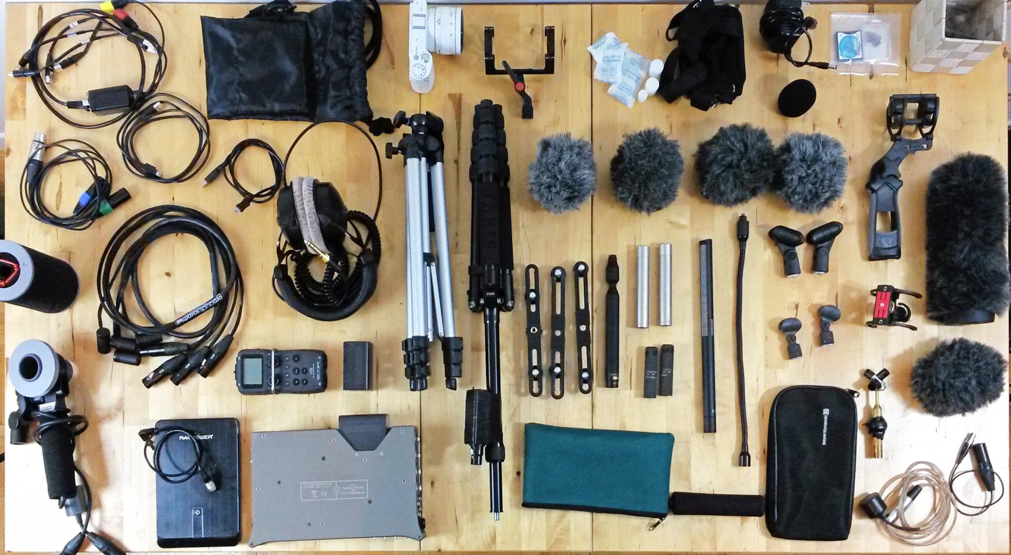 audio gear setup for Ecuador