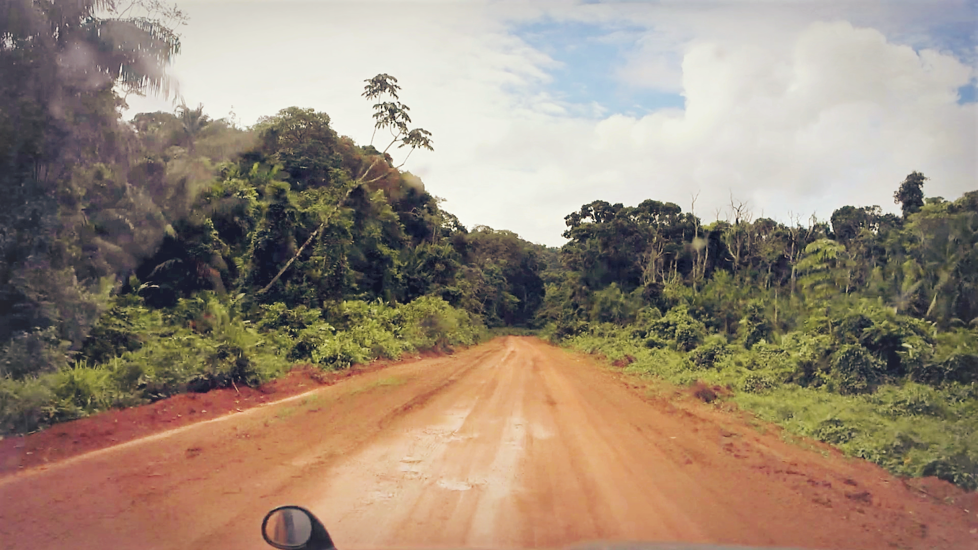 on the track in Rupununi