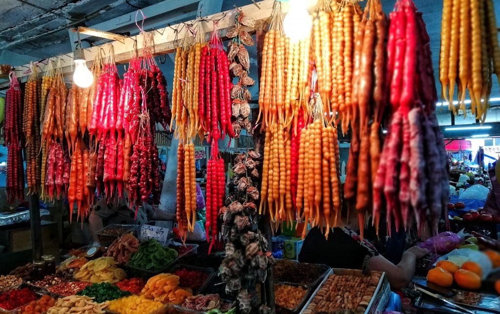 Churchkhela in local market